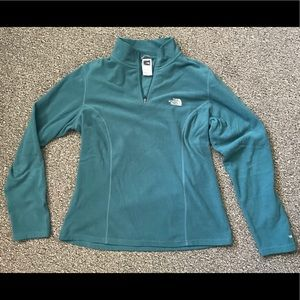 North Face Lightweight Large Teal Pullover Fleece